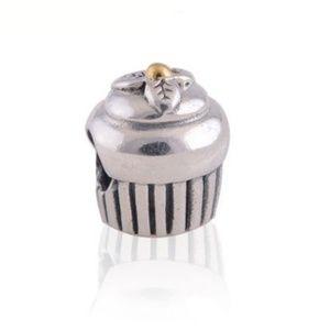 Pandora Two-Toned Cupcake Charm
